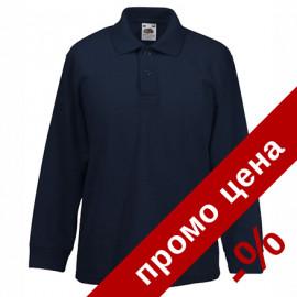 Мъжка поло блуза/риза с дълъг ръкав и яка