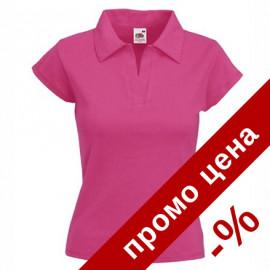 Дамска поло пике тениска/блуза с къс ръкав и яка